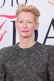 Tilda Swinton looked hip with her side-shaved 'do at the 2016 CFDA Fashion Awards.