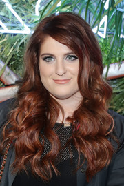 Meghan Trainor wore her hair in a tumble of curls during the Coach and Friends of the High Line Summer Party.