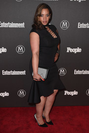 Dascha Polanco finished off her look with a pair of black and silver pumps.