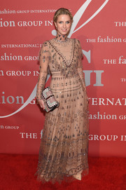 Nicky Hilton looked ethereal in a beaded nude sheer-overlay gown by Valentino at the 2016 Fashion Group International Night of Stars Gala.