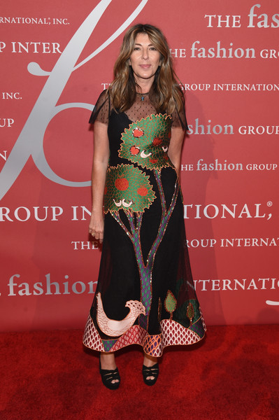 Nina Garcia charmed at the 2016 Fashion Group International Night of Stars Gala in a whimsical print dress by RED Valentino.