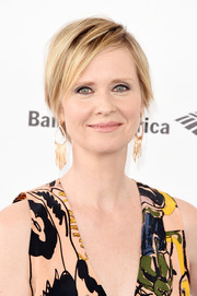 Cynthia Nixon looked cool with her layered razor cut at the Film Independent Spirit Awards.