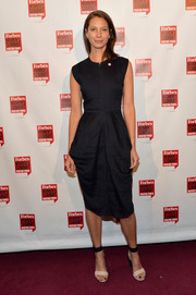 Christy Turlington Burns opted for a simple yet stylish LBD when she attended the Forbes Women's Summit.
