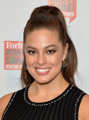 Ashley Graham looked gorgeous wearing this high ponytail at the Forbes Women's Summit.