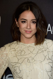 Chloe Bennet was a cutie at the InStyle and Warner Bros. Golden Globes post-party wearing this high-volume wavy 'do.