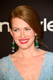 Mireille Enos looked elegant wearing this loose side chignon at the InStyle and Warner Bros. Golden Globes post-party.