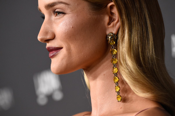 More Pics of Rosie Huntington-Whiteley Long Center Part (1 of 17) - Long Hairstyles Lookbook - StyleBistro