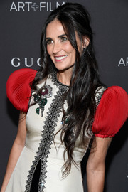 Demi Moore was sexily coiffed with this teased half-up 'do at the 2016 LACMA Art + Film Gala.