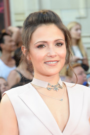 Italia Ricci styled her hair into a pompadour for the 2016 Much Music Video Awards.
