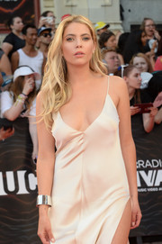 Ashley Benson paired a silver cuff with a sexy slip dress for the 2016 Much Music Video Awards.