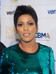 Tamron Hall attended the 2016 For the Love of Our Children Gala wearing her hair in a fauxhawk.