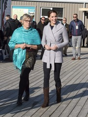 Kate Middleton was rugged-chic in brown cowboy boots by R.Soles while visiting Carcross during the Royal Tour of Canada.