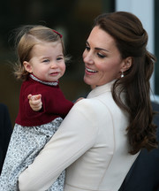 Kate Middleton styled her hair into a lovely half-up 'do with curly ends for the final day of the Royal Tour of Canada.