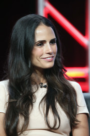 Jordana Brewster wore her long hair down with just a hint of a wave during the 2016 Summer TCA Tour.