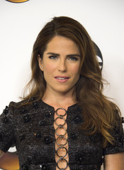 Karla Souza topped off her look with a gorgeous feathery 'do for the Disney ABC Summer TCA Tour.