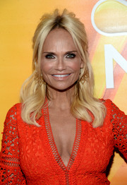 Kristin Chenoweth wore a messy-glam half-up hairstyle at the NBCUniversal Summer TCA Tour.