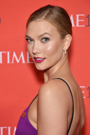 Karlie Kloss pulled her hair back into a simple side-parted chignon for the Time 100 Gala.