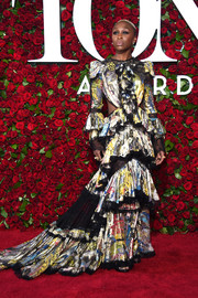 Cynthia Erivo attended the 2016 Tony Awards wearing an extremely busy-looking cutout dress.