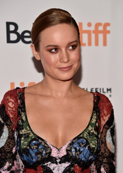 Brie Larson kept her styling simple with this side-parted bun at the TIFF premiere of 'Free Fire.'