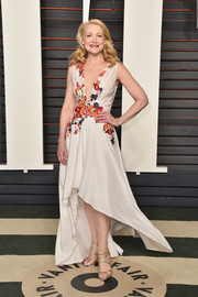 Patricia Clarkson finished off her look with strappy gold heels.