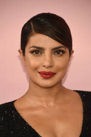 Priyanka Chopra's red lipstick worked beautifully with her metallic eyeshadow.