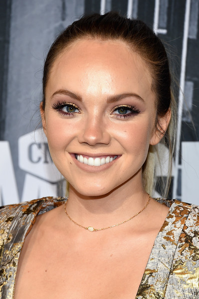 More Pics of Danielle Bradbery Fitted Jacket (1 of 14) - Outerwear Lookbook - StyleBistro [hair,face,eyebrow,hairstyle,lip,beauty,chin,eyelash,skin,forehead,arrivals,danielle bradbery,nashville,tennessee,music city center,cmt music awards]