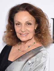 Diane von Furstenberg wore her hair down to her shoulders in voluminous curls during the 2017 DVF Awards.