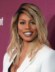 Laverne Cox looked stylish with her textured waves at the Entertainment Weekly pre-Emmy party.