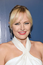 Malin Akerman sported a ponytail with parted bangs at the Humane Society of the United States' To the Rescue! Gala.