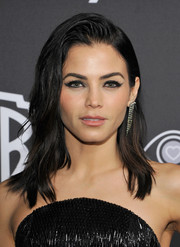 Jenna Dewan-Tatum rocked an edgy wavy 'do with a gelled top at the InStyle and Warner Bros. Golden Globes post-party.