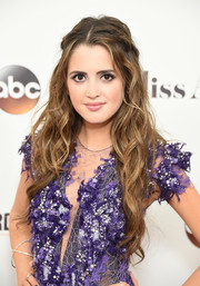 Laura Marano styled her long tresses into this boho-glam 'do for the 2017 Miss America competition.