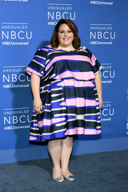 Chrissy Metz finished off her outfit with a pair of silver Tory Burch flats.