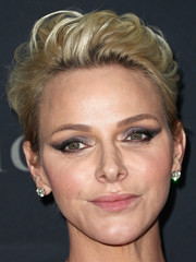 Charlene Wittstock accentuated her eyes with smoky winged shadow.