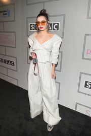 Charli XCX attended the 2017 SESAC Pop Awards rocking a modern take on the classic pantsuit.