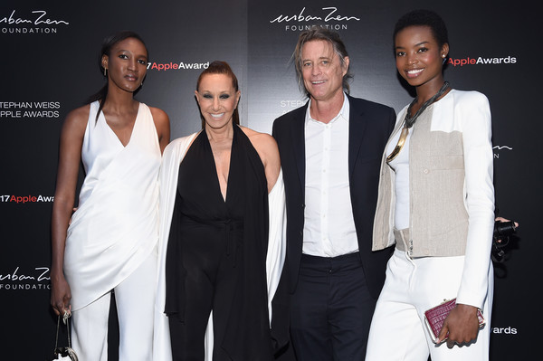 More Pics of Maria Borges Pantsuit (1 of 6) - Suits Lookbook - StyleBistro [white,suit,fashion,event,formal wear,fashion design,tuxedo,premiere,model,black-and-white,stephan weiss apple awards,new york city,nana keita,maria borges,russell james,donna karen]