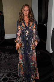 Leah Remini looked quite the diva in a deep-V floral maxi dress by Chloé at the TCA Awards.