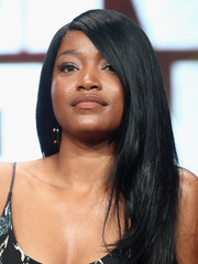 Keke Palmer sported a sleek side-parted hairstyle at the 2017 Summer TCA Tour.