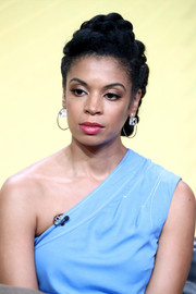 Susan Kelechi Watson worked a chunky braided updo at the 2017 Summer TCA Tour.