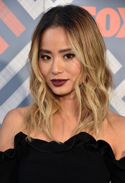 Jamie Chung was edgy-glam with her messy ombre waves at the 2017 Summer TCA Tour.