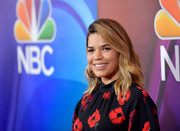 America Ferrera sported beach-chic waves at the 2017 Summer TCA Tour.