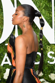 Condola Rashad pulled her hair back into a tight, segmented ponytail for the 2017 Tony Awards.