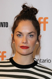 Ruth Wilson attended the TIFF premiere of 'Dark River' wearing her hair in a messy top knot.