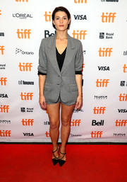 Gemma Arterton's gray Markus Lupfer jacket and shorts combo at the TIFF premiere of 'The Escape' was a relaxed way to suit up!