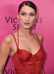 Bella Hadid sported a slicked-down chignon at the 2017 Victoria's Secret fashion show after-party.