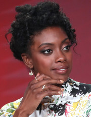 Condola Rashad wore her curls pinned up when she attended the 2017 Winter TCA Tour.
