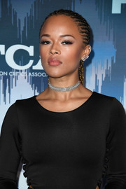 Serayah looked cool with her cornrows at the 2017 Winter TCA Tour Fox All-Star Party.