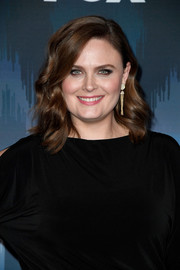 Emily Deschanel flaunted a perfectly styled wavy 'do at the 2017 Winter TCA Tour Fox All-Star Party.