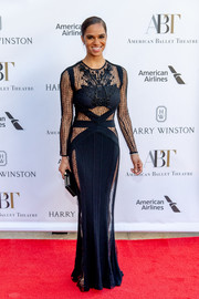 Misty Copeland went for a daring look in this figure-hugging sheer-panel gown by Zuhair Murad at the 2018 American Ballet Theatre Spring Gala.