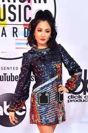 Constance Wu rocked a black mani at the 2018 American Music Awards.