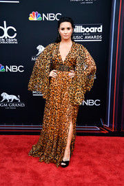 Demi Lovato was diva-glam in a leopard-print caftan by Dior at the 2018 Billboard Music Awards.